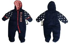 Tommy Hilfiger Baby Boy's Plush Iconic Pram, Bunting All-in-One Winter Snowsuit