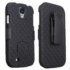 New Black Belt Clip Shell Holster Hybrid Hard Case+Kick Stand Samsung Galaxy S4