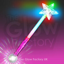 Large Flashing Star Wands LED Glow Star Sticks Light Up Baton Stars