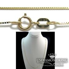 MEN'S WOMEN'S NEW 10K SOLID YELLOW GOLD .4MM BOX SNAKE CHAIN NECKLACE 16~20 INCH