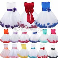Flower Girl Dress Wedding Bridesmaid Birthday Pageant Graduation ROSE PETAL 2-14