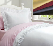 1000TC Egyptian Cotton Edge Ruffle DUVET COVER Sateen Choose Color