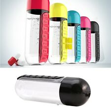 1Pc Combine Daily Weekly Pill Box Seven Organizer Water Bottle Portable New