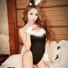Sexy Lingerie Babydoll Teddy Lady Rabbit Bunny Costume Pink Black Fun