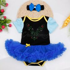 Christmas Infant Baby Girl Outfits Clothes Romper Headband Tutu Dress 2PCS Set
