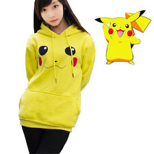 Hoodie Pokemon Sweater Cosplay Pikachu Hooded Costume Adult Jacket Coat Hoody
