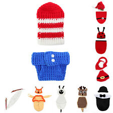 Newborn Kid Baby Girl Boy Crochet Knit Hat Costume Photo Photography Prop Outfit