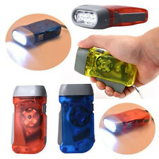 LED Flashlight Wind up Hand Pressing Crank Emergency Camping Flashlight Torch US