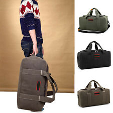 """22"""" Men's Canvas Travel Luggage DUFFLE Bag Rucksack Weekend Overnight Suitcase"""