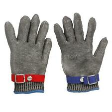 Cut Resistant Safety Glove Stainless Steel Wire Glove with Nylon Glove NEW W0K4
