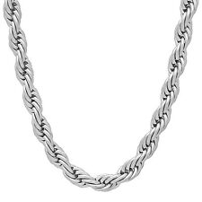 6mm Durable Solid Stainless Steel Rounded French Rope Chain Necklace