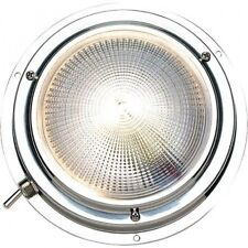 Seachoice Polished Stainless Steel Bright White LED Dome Light. Brand New