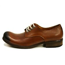 Modello Andrea - Handmade Colorful Italian Leather Oxford Dress Shoes Brown