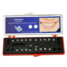 1Kit ORMAER Dental Orthodontic Ceramic Brackets Braces 5*5 MBT 0.022 hooks 3 4 5