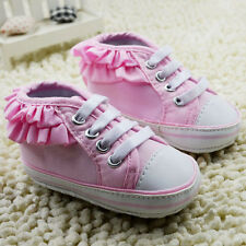 Toddler Baby girl pink Sports shoes crib shoes size 0-6 6-12 12-18 Months