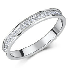 9ct White Gold Ring Channel Set Diamond Eternity 0.15ct Ring 'SALE'