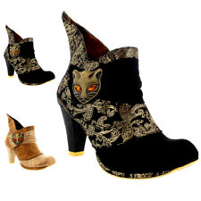 Womens Irregular Choice Miaow Cat Evening Ankle Boot Leather Mid Heel UK 3-8.5