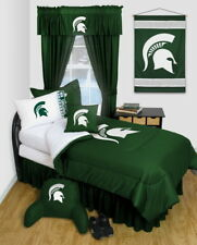 Michigan State Spartans Comforter Sham & Bedskirt Twin Full Queen Size LR