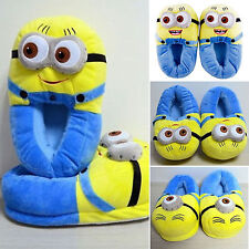 Unisex Adult Soft Indoor Shoes Minions Stuffed Plush Slippers Winter Warm Sandal