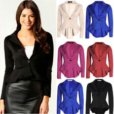 Fashion Womens One Button Slim Casual Business Blazer Suit Jacket Coat Outwear