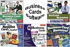 BUSINESS CARD SOFTWARE for PC Windows XP Vista 7 8 10 NEW Factory Sealed