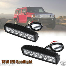 New 18W Spotlight LED Light Work Bar Lamp Driving Fog Offroad SUV 4WD Car Truck