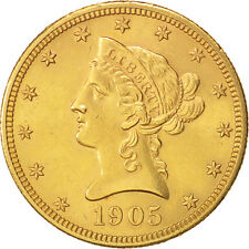 [#450341] United States,Coronet Head,$10,1905,Philadelphia,Gold,KM 102