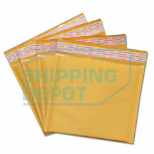 """1-2000 #CD 7.25x8 Kraft Bubble Mailers Self Seal Envelopes 7.25""""x8"""" Secure Seal"""