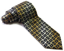 Alexander Julian Colours men's tie gray,yellow, white and blue