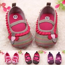 Cute Toddler Infant Baby Girl Flower Shoes Crib Shoes Mary Jane Shoes Prewalkers
