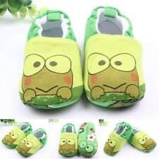 Green Frog Baby Infant Toddle Kids Shoes Boys Girls Soft Sole Crib Shoes 0-12M