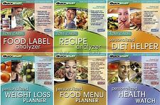 Food Planners Analyzers Recipes Menus PC Windows Sofware NEW Factory Sealed