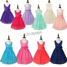 Girls Flower Dress Toddler Princess Birthday Party Prom Wedding Bridesmaid Dress