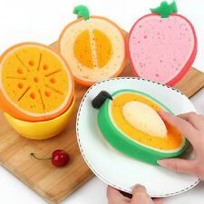 Fruit Shape Sponge Scouring Dish Washing Cleaning Cloth Gadget Kitchen Tools
