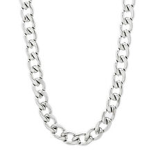 5mm Durable Solid Stainless Steel Cuban Curb Link Chain Necklace