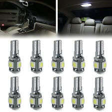10x Canbus Error Free Car Side Wedge Light Bulb With Lens T10 5050 5SMD LED New