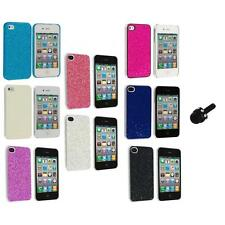 Bling Glitter Sparkly Ultra Thin Hard Back Cover+Mini Stylus for iPhone 4 4G