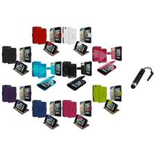 For iPod Touch 4th Gen 4G Wallet Leather Pouch Cover Case Holder+Stylus Plug