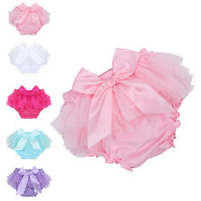 Infant Baby Girl 3-24M Toddler Bowknot Ruffle Bloomer Nappy Diaper Cover Panties