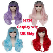 New Heat Resistant Hair 4 Mixed Colors 65cm Lolita Cosplay Women Curly Wig
