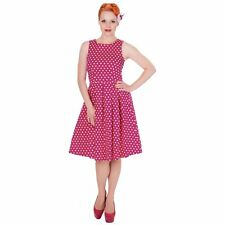 Dolly And Dotty Womens Lola Sailor Dress Hot Pink Classic Vintage Rockabilly
