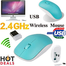 2.4GHz Wireless Cordless Optical Scroll Mouse Mice For PC Laptop MAC +USB Dongle