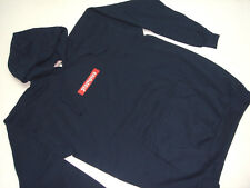 (FREE SHIPPING) New PTS SHOE CO. COTTON HOODED SWEATSHIRT NAVY MADE IN U.S.A.