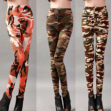 Sexy Women Camouflage Stretch Trousers Leggings Jeggings Pencil Tight Pants RF