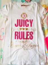 Juicy Couture Juicy Rules Queen of Sugar T-Shirt Tee NWT 8 10 12 White Navy