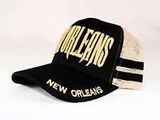 """NEW """"NEW ORLEANS"""" TWO TONE COLOR TRUCKER'S BALL MESH CAP/HAT-ADJUSTABLE"""