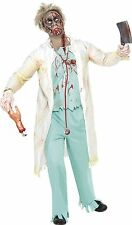 Smiffys Zombie Doctor Mens Halloween Fancy Dress Costume White Green Undead