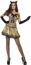 Smiffys Fever Boutique Fancy Dress Womens Costume Kitty Cat