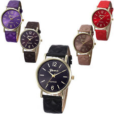 Fashion Women's Geneva Watches Quartz Stainless Steel Leather Analog Wrist Watch