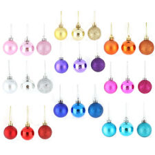 Holiday Christmas Party Plastic Pendant Tree Ornament Ball 6cm Dia 24 Pcs